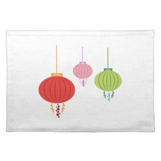 Hanging Lanterns Cloth Placemat