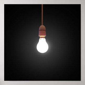 Hanging Lightbulb Poster