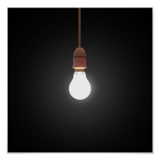 Hanging Lightbulb Posters