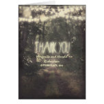 hanging lights and trees wedding thank you cards