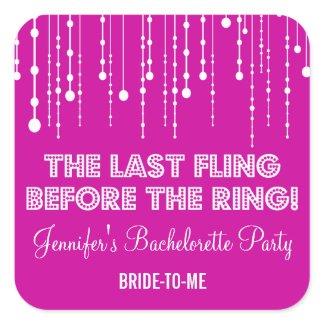 Hanging Lights Bachelorette Party Sticker sticker