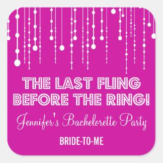 Hanging Lights Bachelorette Party Sticker