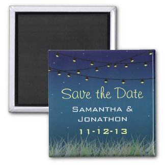 Hanging Lights Night Under the Stars Save the Date Magnet