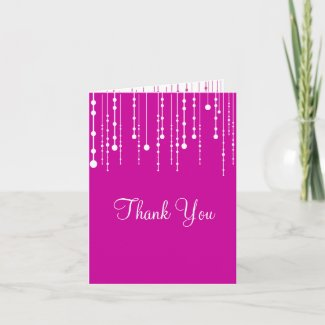 Hanging Lights Thank You card