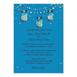 Hanging Mason Jars and Fireflies Custom Announcement