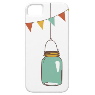 Hanging Mason Jars with Flags iPhone 5 Cover
