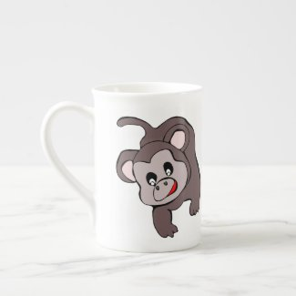 Hanging Monkey Bone China Mug