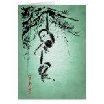 """Hanging Monkeys"" Retro Japanese Calligraphy Card"