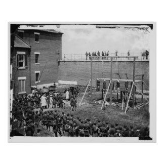 Hanging of the Four Lincoln Conspirators Poster