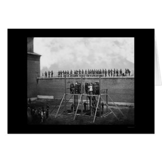 Hanging of the Lincoln Conspirators 1865 Card