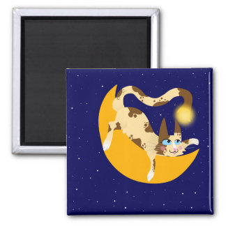 HANGING ON THE MOON REFRIGERATOR MAGNETS
