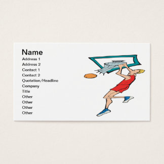 Hanging On The Rim Business Card