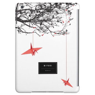 Hanging Origami Paper Cranes Branches iPad Case