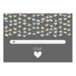 Hanging Origami Paper Cranes (Pewter) Escort Cards Business Cards