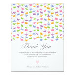 Hanging Origami Paper Cranes Thank You Announcement