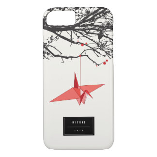 Hanging Origami Red Paper Cranes Branches Zen Case