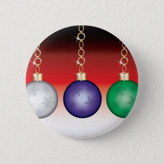 Hanging Ornament Design Pinback Button