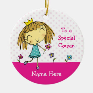 ♥ HANGING ORNAMENT ♥ Special cousin princess pink
