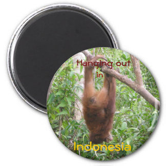 Hanging out 2 inch round magnet