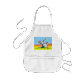 Hanging out kids' apron