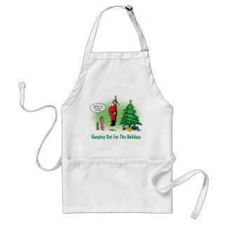 Hanging Out Santa Twisted Cartoon Adult Apron