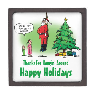 Hanging Out Santa Twisted Cartoon Jewelry Box