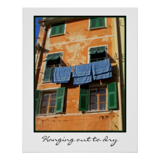 Hanging out to dry print
