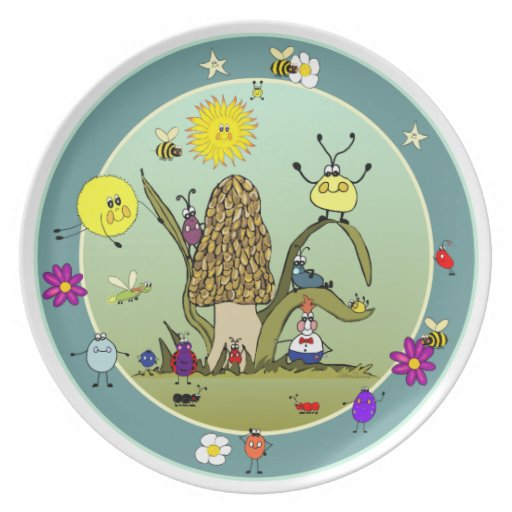 Hanging Out With Friends Dinner Plate