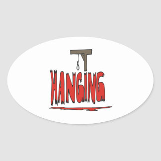 Hanging Oval Sticker