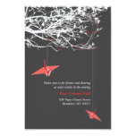 Hanging Paper Cranes Branch Tree Wedding Reception Announcements