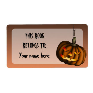 Hanging Pumpkin, shipping labels or bookplates