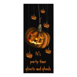 Hanging Pumpkin, skinny invitation