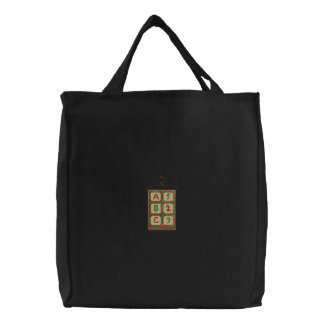 Hanging Quilt Embroidered Tote Bag