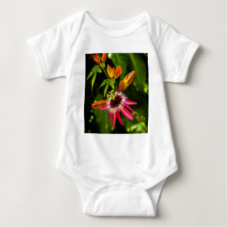 Hanging Red Bromeliad Baby Bodysuit