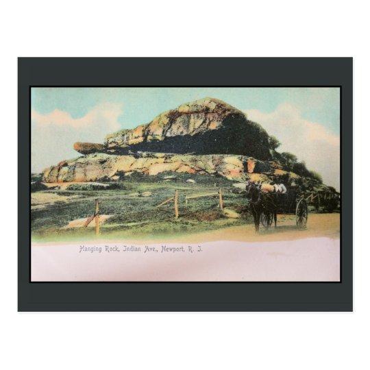 Hanging Rock, Indian Avenue, Newport,RI Postcard