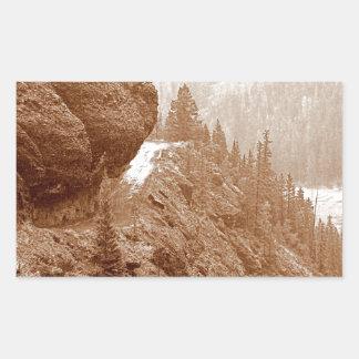 Hanging Rock Rectangular Sticker