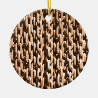 Hanging Rusted Iron Chain Ceramic Ornament
