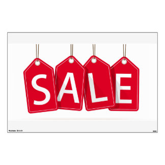 Hanging Sales Sign Wall Decal