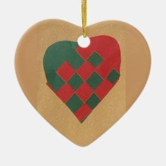 Hanging scandinavian heart ornament