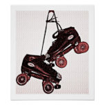 Hanging Skates Pop Art Dubbed Canvas Poster