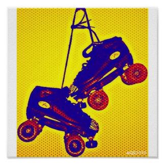 Hanging Skates Pop Art Poster