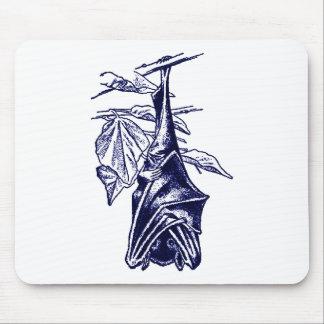 Hanging Sleeping Bat (Dark Blue Version) Mouse Pad