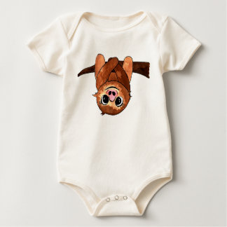 Hanging sloth baby bodysuit