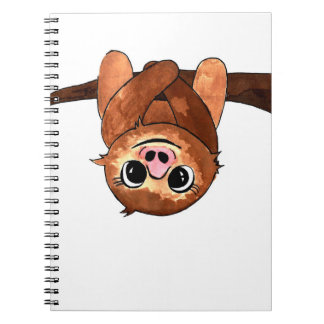 Hanging sloth notebook