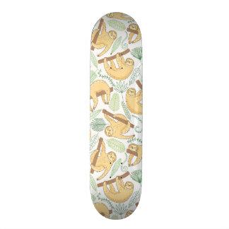 Hanging Sloths Skateboard Deck