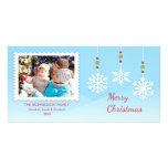 Hanging Snowflake Ornaments Christmas Photo Cards
