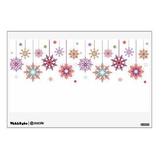 Hanging Snowflake Ornaments Wall Decal