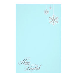 snow snowflake stationery zazzle