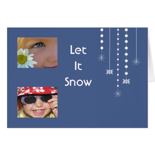 Hanging Snowflakes Custom Card (blue)