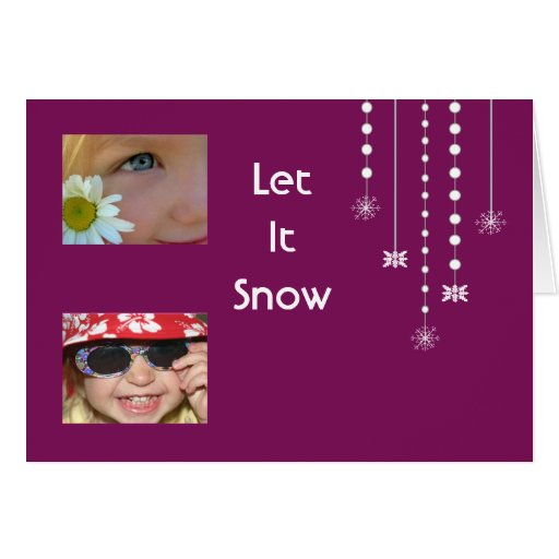 Hanging Snowflakes Custom Card (purple)